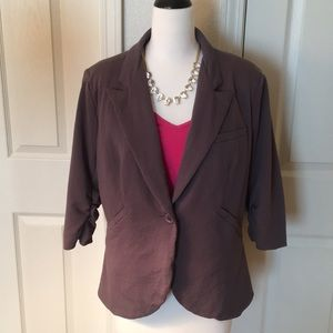 b36539cea372 Modcloth Jackets & Coats | Fine And Sandy Blazer In Stone | Poshmark